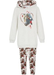 Sweat-shirt et legging coton bio (Ens. 2 pces.) fille, bpc bonprix collection