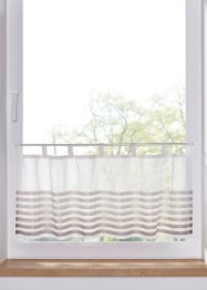 Brise-bise avec rayures en satin (1 pce.), bpc living bonprix collection