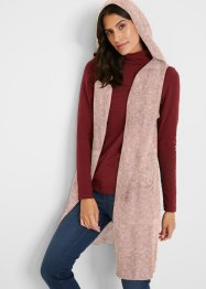 Gilet long en maille sans manches avec coton recyclé, bpc bonprix collection