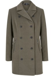 Veste longue imitation laine style trench-coat, bpc bonprix collection