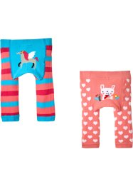 Lot de 2 leggings bébé en maille, bpc bonprix collection