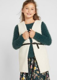 Gilet fille sans manches en polaire peluche, bpc bonprix collection