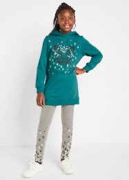 Sweat-shirt et legging fille (Ens. 2 pces.) coton bio, bpc bonprix collection