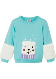 Sweat-shirt fille avec détails en polaire, bpc bonprix collection