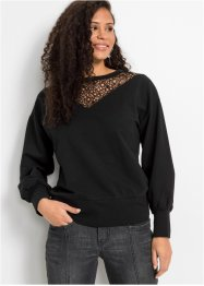 Sweat-shirt à dentelle, BODYFLIRT