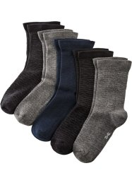 Lot de 5 paires de chaussettes avec bordure de confort sans pression, bpc bonprix collection