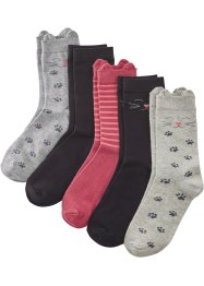 Lot de 5 paires de chaussettes femme coton bio, bpc bonprix collection