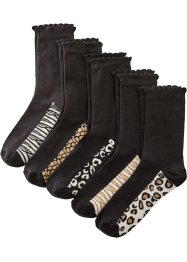 Lot de 5 paires de chaussettes coton bio, bpc bonprix collection