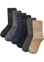 Lot de 6 paires de chaussettes coton bio, bpc bonprix collection