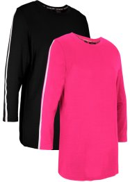 Lot de 2 T-shirts de sport avec TENCEL™ Lyocell, manches 7/8, bpc bonprix collection