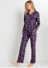Pyjama avec patte de boutonnage, bpc bonprix collection