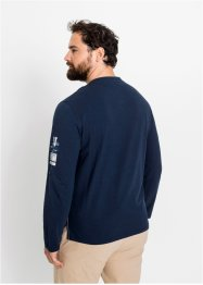 T-shirt col Henley manches longues, bpc selection