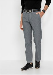 Pantalon chino en chambray Regular Fit avec taille confortable, Straight, bpc selection