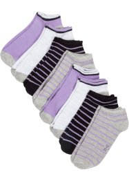 Lot de 8 paires de socquettes basses avec coton bio, bpc bonprix collection