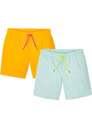 Lot de 2 shorts longs de plage, Regular Fit, RAINBOW
