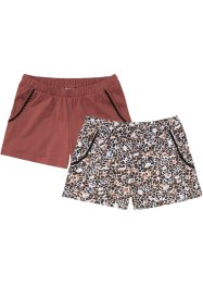 Lot de 2 shorts de pyjama en coton bio, bpc bonprix collection