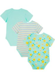 Lot de 3 bodies bébé manches courtes coton bio, bpc bonprix collection