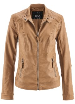 Veste synthétique imitation cuir, bpc bonprix collection, brun cognac