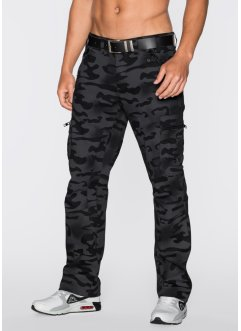 Pantalon cargo Baggy Fit Straight, RAINBOW, noir imprimé