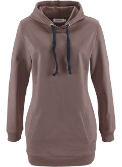 Sweatshirt long, manches longues, John Baner JEANSWEAR, marron moyen