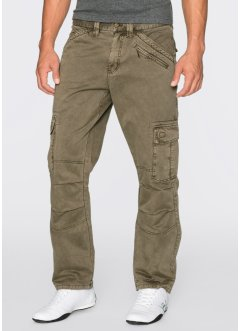 Pantalon cargo Loose-Fit Straight, RAINBOW, vert kaki
