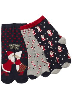 Lot de 3 paires de chaussettes de Noël, bpc bonprix collection