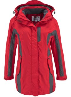 Veste outdoor 3en1, bpc bonprix collection, rouge/gris ardoise