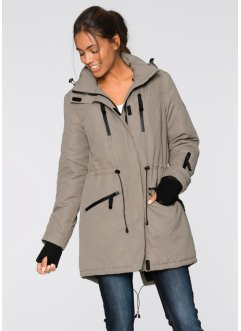 Veste longue fonctionnelle outdoor, bpc bonprix collection, taupe