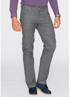 Pantalon 5 poches aspect flanelle Regular Fit, bpc selection, anthracite chiné