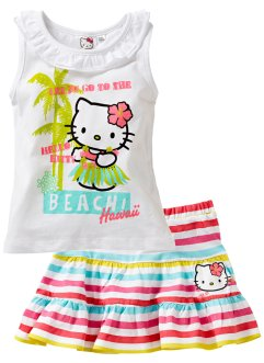 Top + jupe (Ens. 2 pces.) HELLO KITTY, Hello Kitty, blanc rayé Hello Kitty