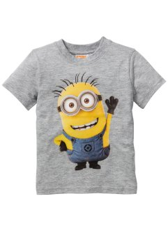 T-shirt MINIONS, Despicable Me 2, gris clair chiné MINIONS