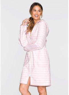 peignoir en polaire bpc bonprix collection rose clairblanc cass ray - Robe De Chambre Femme