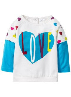 Sweatshirt bébé en coton bio, bpc bonprix collection, blanc cassé