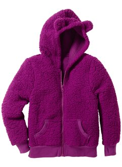 Gilet en synthétique imitation fourrure peluche, bpc bonprix collection, violet pervenche