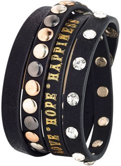 Bracelet à rivets, bpc bonprix collection, noir