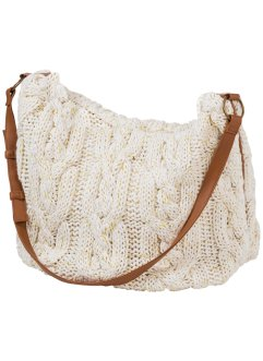 Sac en maille, bpc bonprix collection, blanc cassé