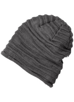 Beanie uni à fronces, bpc bonprix collection, gris