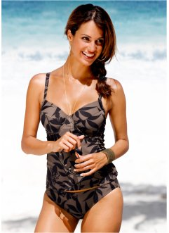 Tankini à armatures, bpc selection, noir/marron