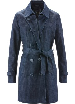 Trench-coat en jean, bpc selection, dark bleu stone