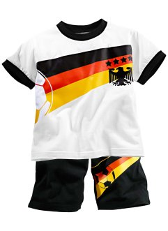 T-shirt + bermuda (Ens. 2 pces.), bpc bonprix collection, blanc/Allemagne