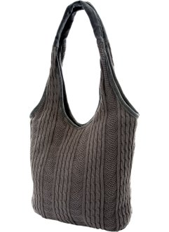Sac en tricot Marie, bpc bonprix collection, gris