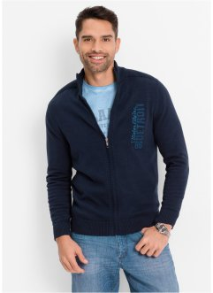 Gilet en maille Regular Fit, bpc bonprix collection, bleu foncé