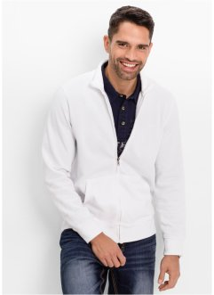 Gilet sweat-shirt Regular Fit, bpc bonprix collection, blanc