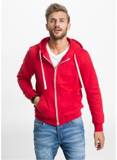Gilet sweat-shirt Slim Fit, RAINBOW, rouge