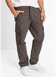 Pantalon confort cargo Loose Fit Straight, bpc bonprix collection, carreaux