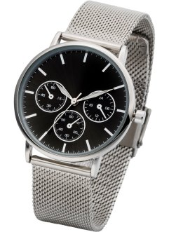 Montre bracelet avec mesh style chrono, bpc bonprix collection