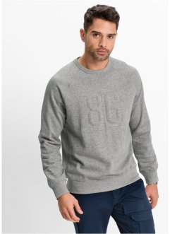 Sweat-shirt Regular Fit, bpc bonprix collection, gris clair chiné