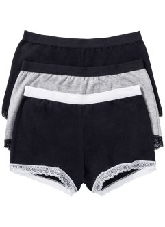 Lot de 3 maxi shorties, bpc selection, noir/gris clair chiné