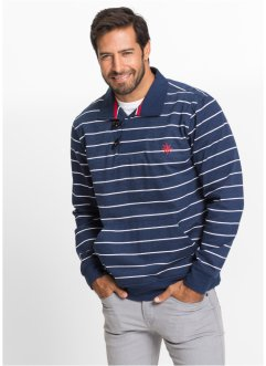Sweat-shirt rayé Regular Fit, bpc selection, bleu foncé/blanc rayé