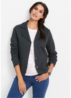 Blazer matière sweat, bpc bonprix collection, anthracite chiné